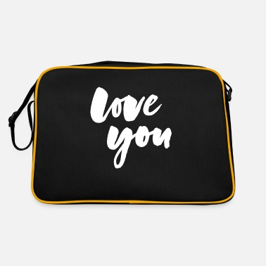 Love You Love you - love you - Retro Bag