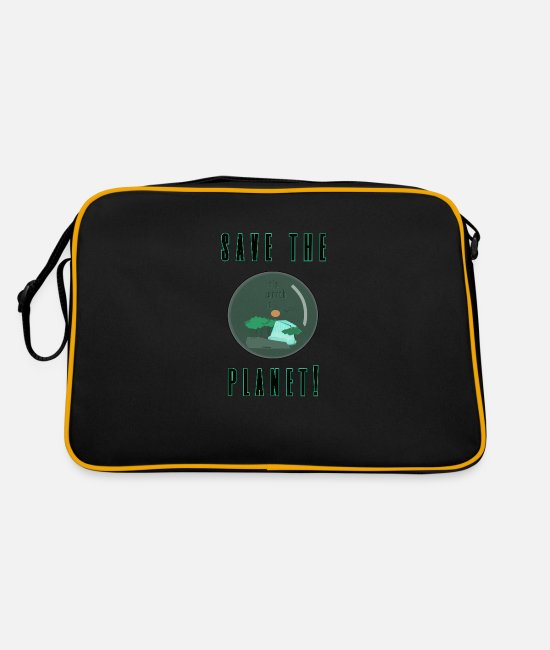 Earth Bags & Backpacks - save the planet - protect the planet - Retro Bag black/gold