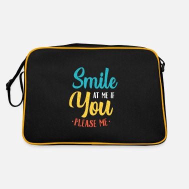 Naughty Party emoticon single flirt saying - Retro Bag