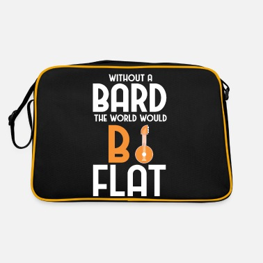 Without A Bard Flat World Pun - Retro Bag