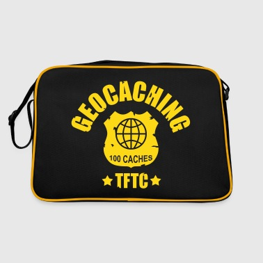geocaching - 100 caches - TFTC / 1 color - Retro-tas