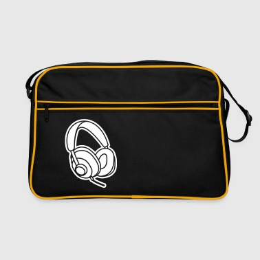 Audiophile Headphones Music Player Beat Bass DJ - Retro Bag