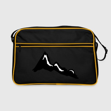 mountain  mountains - Retro Bag