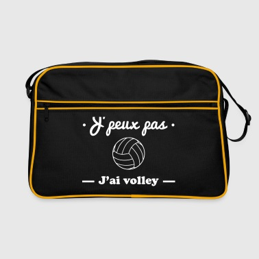 J'peux pas j'ai volley , volleyball - Sac Retro
