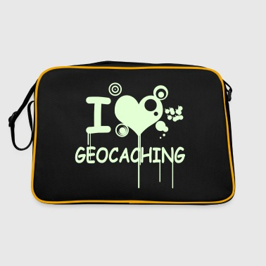 I love geocaching / 2 colors - Sac Retro
