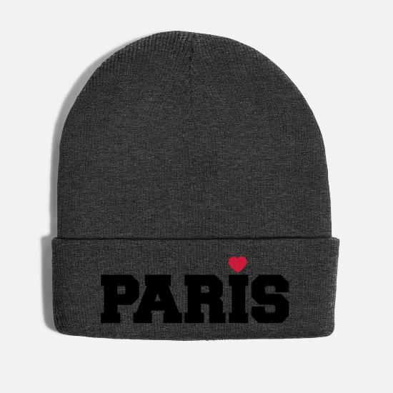 Travel Caps & Hats - Paris heart France love gift - Winter Hat asphalt