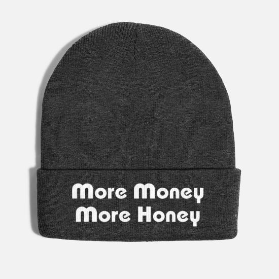 Dollar Caps & Hats - More Money More Honey - Winter Hat asphalt