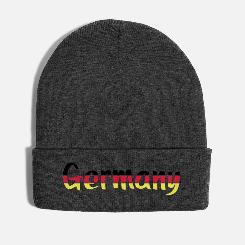 Beast Mode Caps & Hats - Germany lettering - Winter Hat asphalt