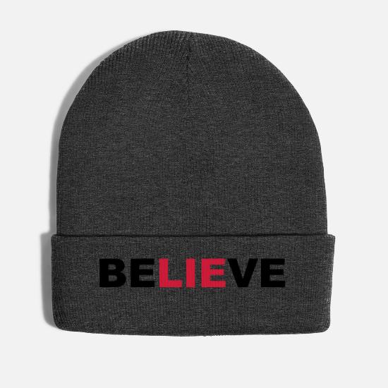 Believe Caps & Hats - believe - Winter Hat asphalt