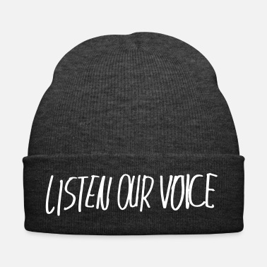 Justice listen our voice - Winter Hat dd1f46d80a34