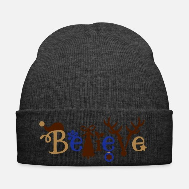 Christmas Cute Christmas Believe Design - Cappellino invernale