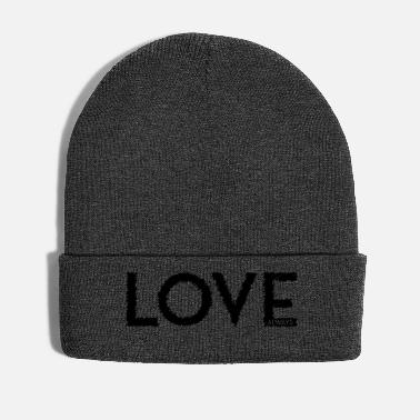 Scribble LOVE ALWAYS black - Winter Hat