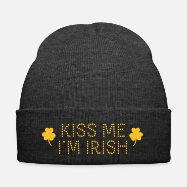 Shamrock kiss me i'm irish dotted / shamrock / st paddy's - Bonnet d'hiver