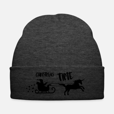 Christmas Natale Unicorn Christmas Time - Cappellino invernale
