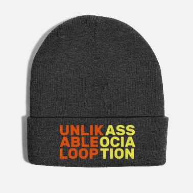 Association unlikable loop association english gift slogan - Winter Hat
