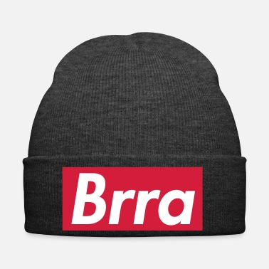Rapper Brra - Sup reme design, white writing, red box - Winter Hat