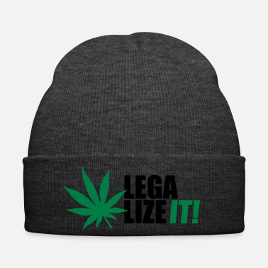 Kiffen Legalize it! Marihuana Joint Cannabis Ganja kiffen - Wintermütze