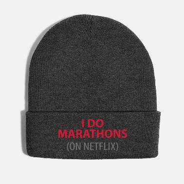 Marathon I do marathons on netflix - Wintermütze