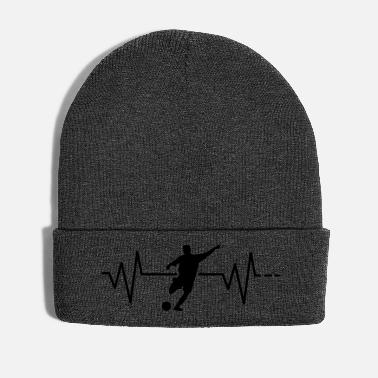Team Player Heartbeat Soccer - Soccer, Sport, Team, Players - Winter Hat