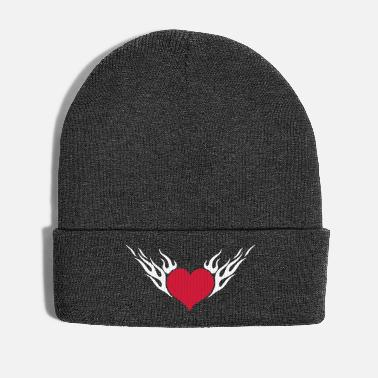 Rockabilly Fire Heart 2c - Winter Hat
