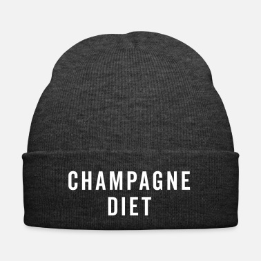 Diet Champagne Diet Funny Quote - Winter Hat