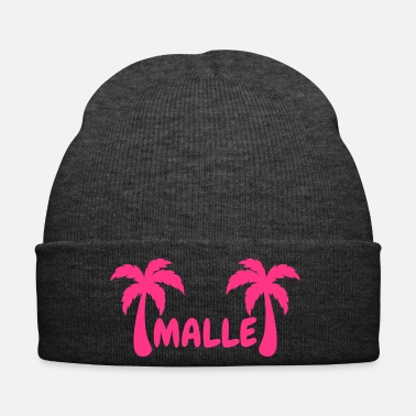 Palm Trees Malle - lettering with two palm trees - Winter Hat