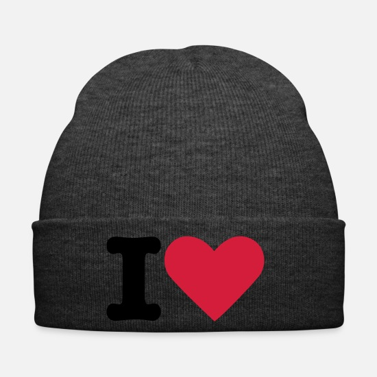 I Love Caps & Hats - I Love - Winter Hat asphalt