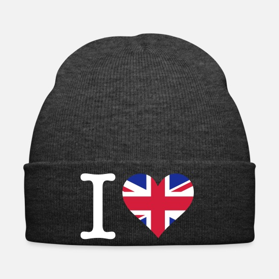 Country Caps & Hats - I Love The United Kingdom - Winter Hat asphalt
