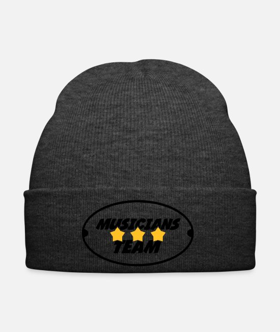 Bass Caps & Hats - Musik Musiker Music Musician Musique Musicien - Winter Hat asphalt