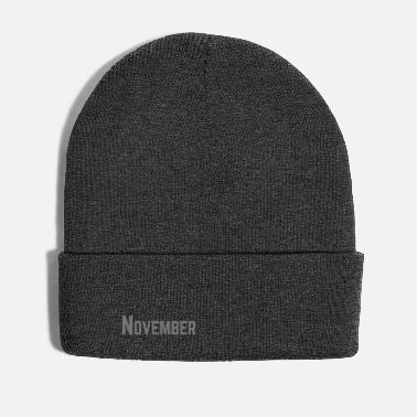 November November month as text | Color customizable - Winter Hat