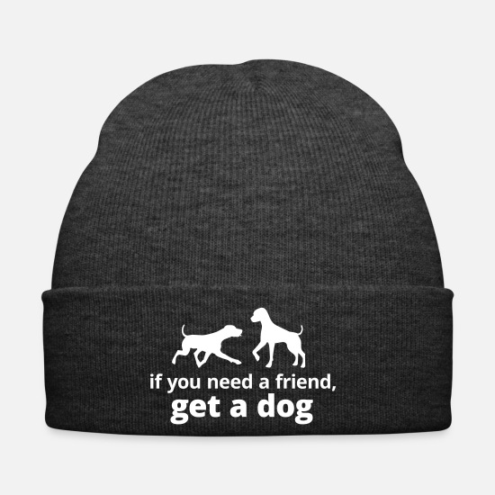 Faithfulness Caps & Hats - you need a friend, get a dog dog pet friend - Winter Hat asphalt