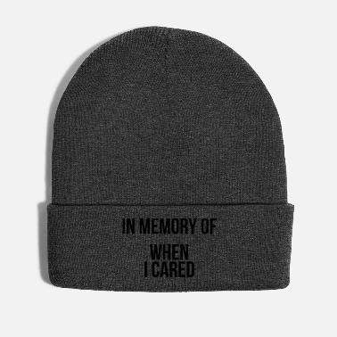 Memory In memory of when I cared - Winter Hat