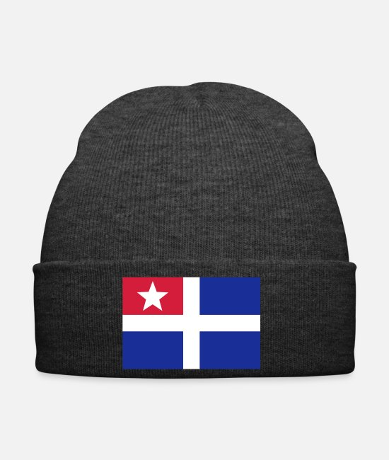 Greece Caps & Hats - Cretan flag - Winter Hat asphalt