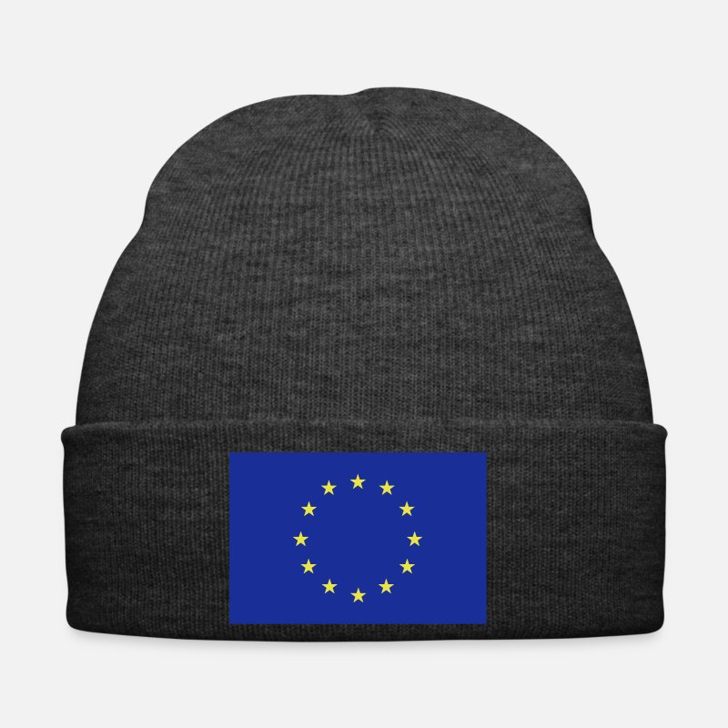 European Union Caps & Hats - Europe flag - Winter Hat asphalt