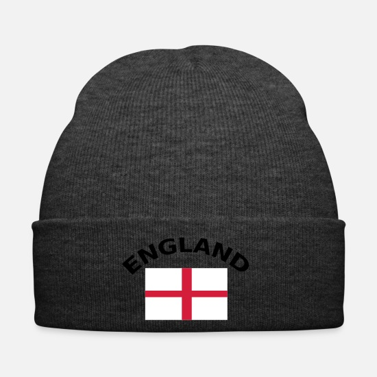 Flag Caps & Hats - England, UK, Great Britian, United Kingdom, flag, - Winter Hat asphalt