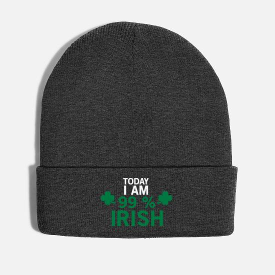 Irish Caps & Hats - St. Patrick's Day. Shamrock. Irish. gift - Winter Hat asphalt
