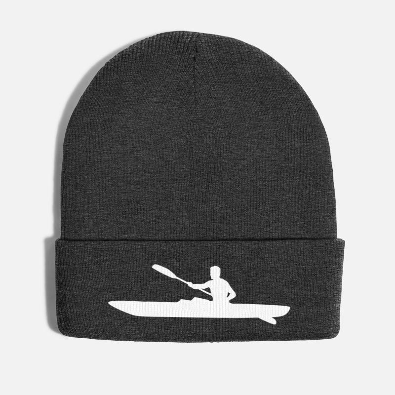 Born to Kayak Forced to Work Beanies Knit Hat Ski Cap Men Black