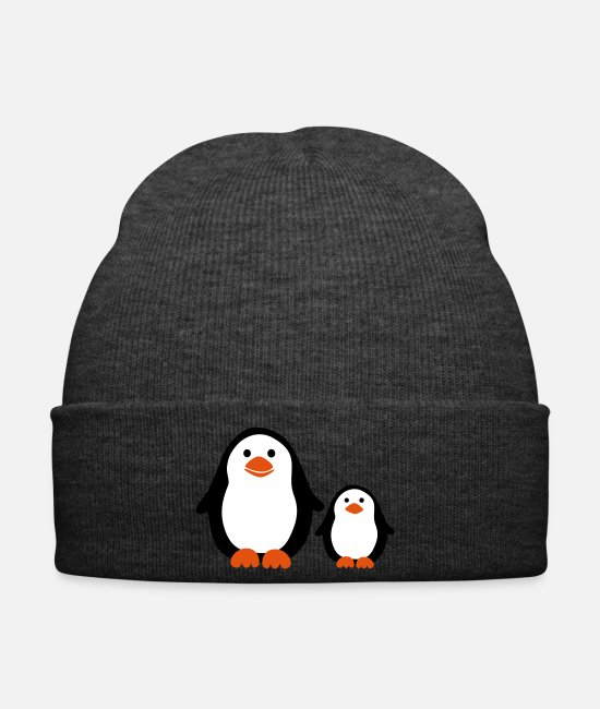 Nature Caps & Hats - Penguin with Baby - Winter Hat asphalt
