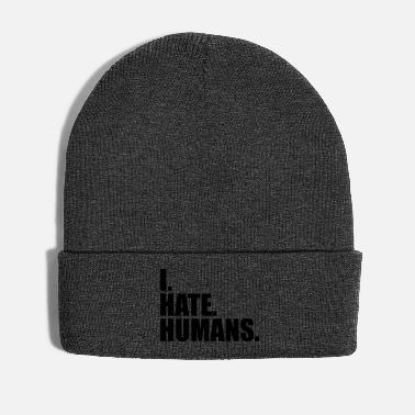 People cool logo humans text sticker fuck you fuck off - Winter Hat