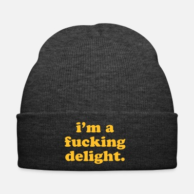 Rude I'm A Fucking Delight Funny Quote - Cappellino invernale