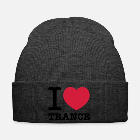 Trance Caps & Hats - I love trance music - Winter Hat asphalt