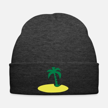 Palm Trees Island with palm tree - Winter Hat