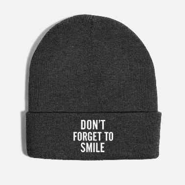 Tumblr Don't forget to smile - Cappello invernale
