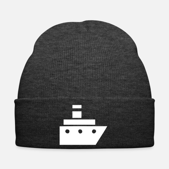 Harbour Caps & Hats - Ship Boat Sea Sea Maritime Hamburg Port Ahoi - Winter Hat asphalt