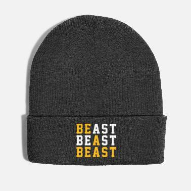 Beast Mode BE A BEAST Typo Design Print Quote - Winter Hat