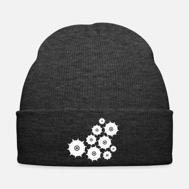 Wheel wheel of time cog clockwork sun stars symbols - Winter Hat