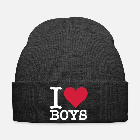Love Caps & Hats - I Love Guys - Winter Hat asphalt