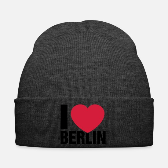 Love Caps & Hats - I love Berlin! - Winter Hat asphalt