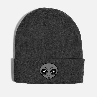 Grey Small grey grey alien head - Winter Hat