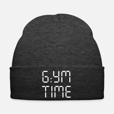 Outdoor GYM TIME - Motivational Typo Digital Design Print - Bonnet d'hiver